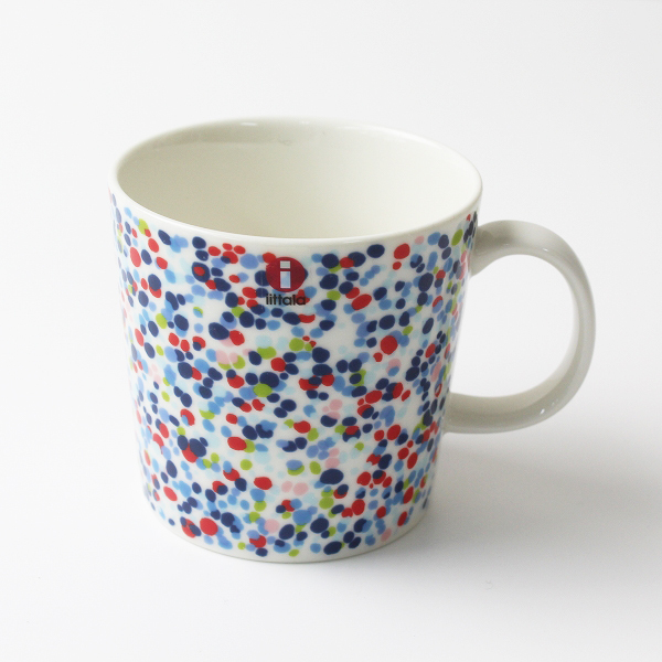 美品 北欧 ittala Helle ヘレ マグカップ 0.3L/ブルー blue 陶器 皿 食器 コップ【2400012191655】