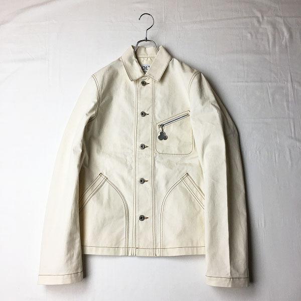 2018年 コレクション LOEWE ロエベ X Charles Rennie Mackintosh ホワイトデニムジャケット ユニセックス44//【2400012198333】