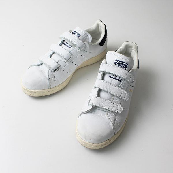 adidas アディダス STAN SMITH スタンスミス BY9191 CF ベルクロ スニーカー 23.5cm/ホワイト【2400012205703】