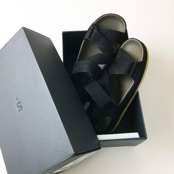 未使用品 Clarks ORIGINALS クラークス Ranger Sport ブラックヌバック サンダル UK5 FIT-D/ブラック 靴【2400012206717】