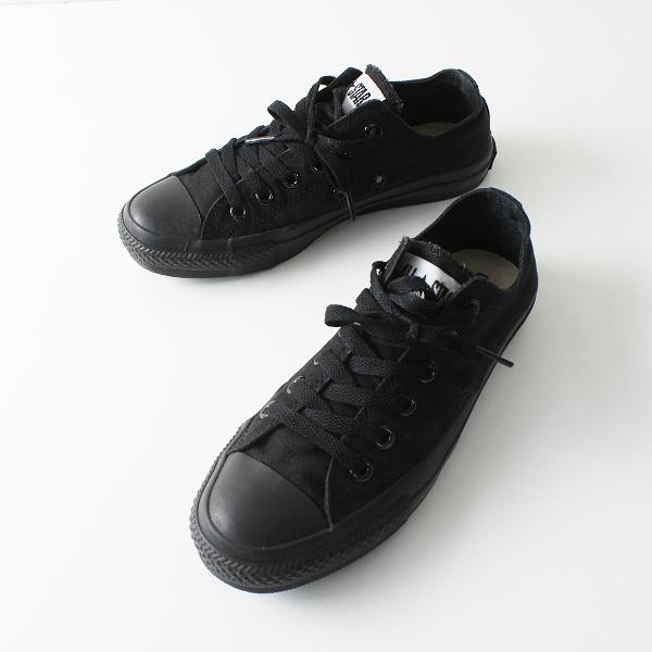 CONVERSE コンバース ALL STAR オールスター キャンバス フラット スニーカー 24.5cm /ブラック シューズ 靴【2400012216150】