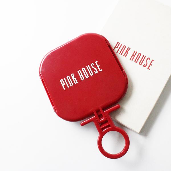 PINK HOUSE ピンクハウス 手鏡 三面鏡/レッド ミラー【2400012218475】