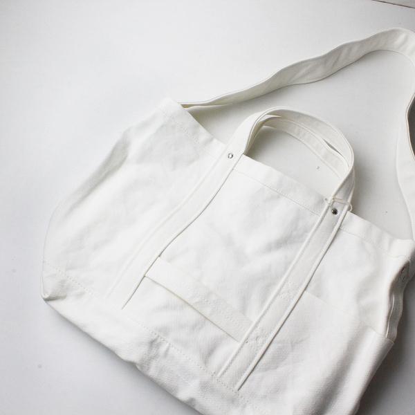 美品 YAECA ヤエカ 18952 TOOL BAG MEDIUM ツールバッグ/ホワイト ミディアム キャンバス【2400012220768】