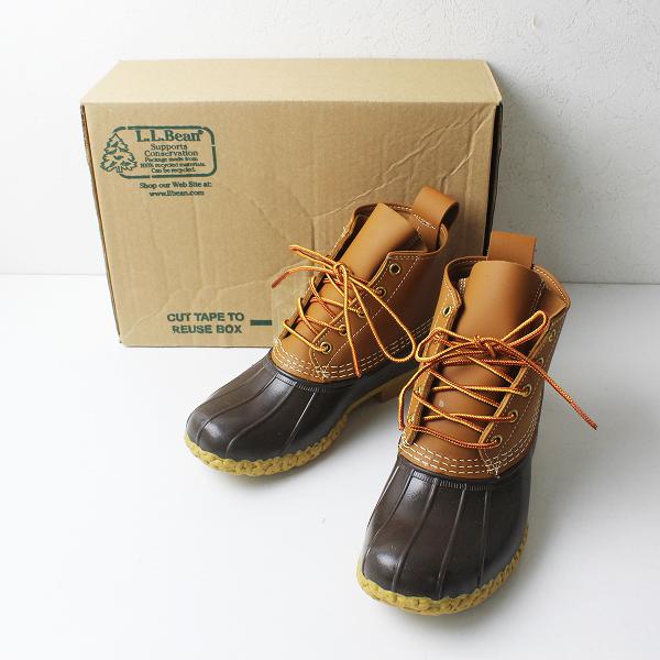 未使用品 L.L.Bean エルエルビーン フルグレインレザー 6ホール ビーン ブーツ 7W(D)/24.0cm タン ブラウン 靴【2400012220850】