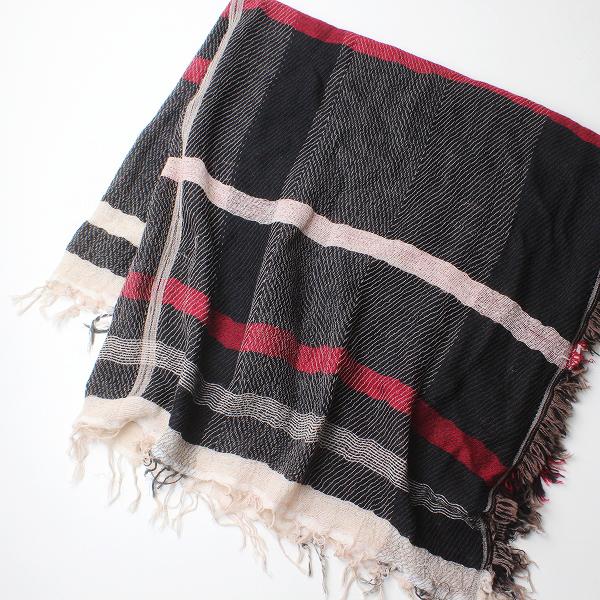 tamaki niime 玉木新雌 タマキニイメ ウールコットン オンリーワン roots shawl スクエア ルーツショール /【2400012221871】