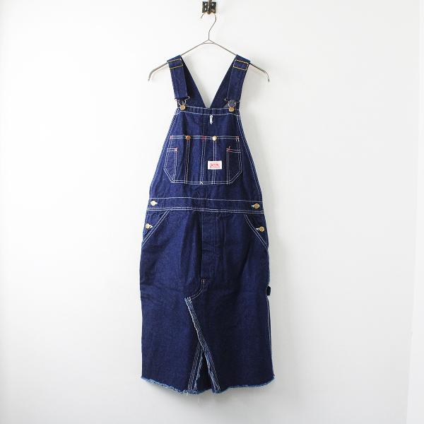 ROUND HOUSE ラウンドハウス コットン デニムサロペットスカート 32×30/ブルー【2400012222083】