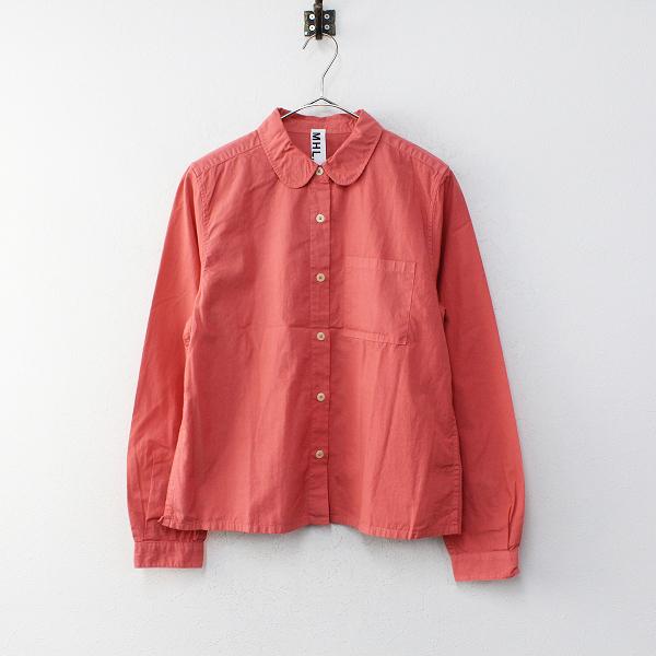 MHL. MARGARET HOWELL マーガレットハウエル 丸襟 コットンシャツ 2/ピンク【2400012222786】