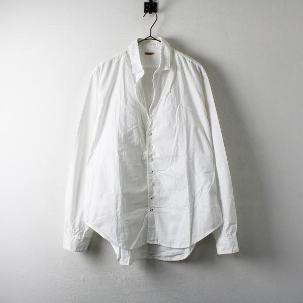 メンズ KAPITAL キャピタル コットン ロングスリーブ シャツ L/ホワイト トップス【2400012224131】