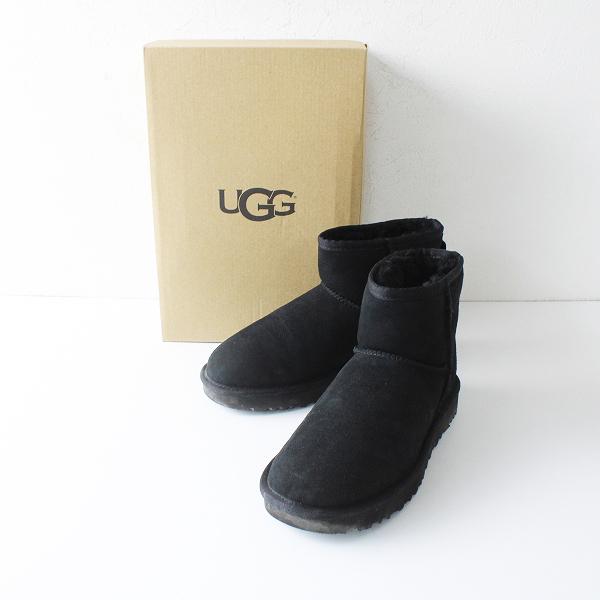 UGG アグ W CLASSIC 1016222 MINI II ムートンブーツ 23.0cm/ブラック【2400012225237】