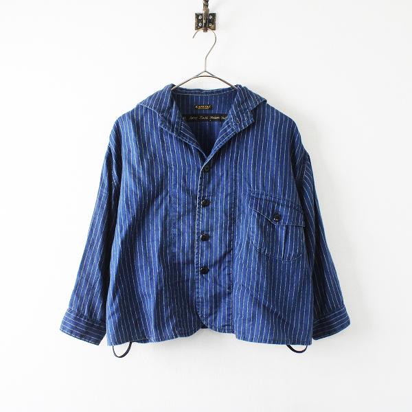 KAPITAL キャピタル IDGリネン ワバッシュpt ナースジャケット 1/インディゴ ショート丈 藍染め【2400012225862】