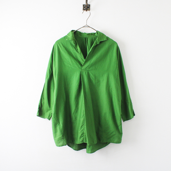 2017SS KAPITAL キャピタル ドビーOXグッドモーニングプルシャツ 0/グリーン オックスフォード【2400012225916】