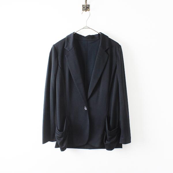 美品 大きいサイズ Leilian レリアン トリアセポリ テーラードジャケット 13/ブラック【2400012228399】