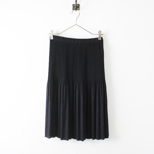 Leilian レリアン ポリエステル アコーディオンプリーツ スカート 9/ブラック ドット【2400012228429】