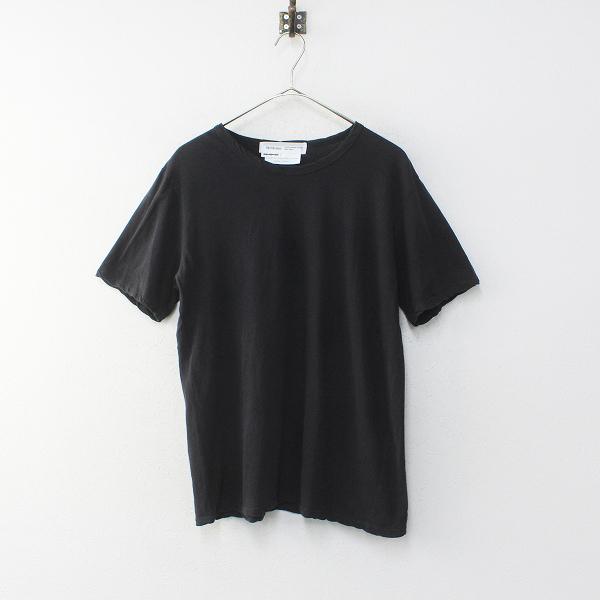 Veritecoeur ヴェリテクール ST-067 強撚天竺クルーネックTee Tシャツ F/ブラック トップス【2400012231252】