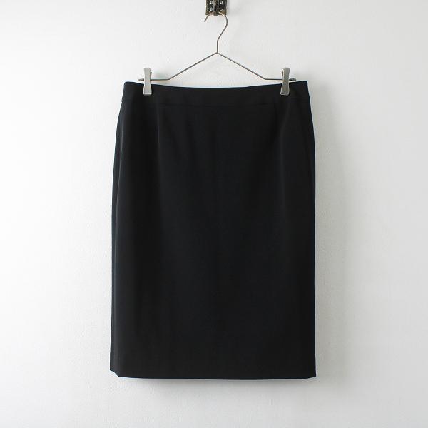 大きいサイズ オンワード樫山 iCB アイシービー バックスリット スカート 12/ブラック ボトムス【2400012232334】