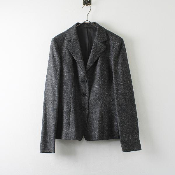 大きいサイズ K.T KIYOKO TAKASE ケーティー キヨコタカセ ウールシルク テーラード ジャケット 15/グレー 【2400012232501】