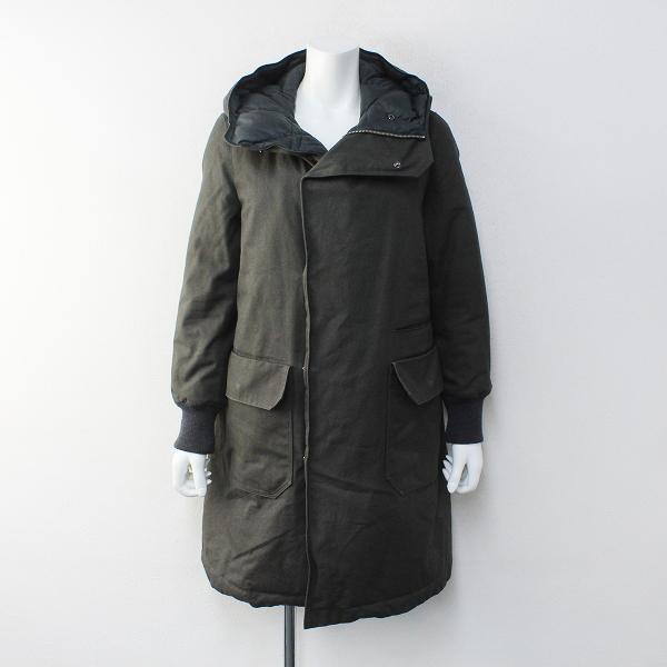 2017AW 秋冬 ゴーシュ Reversible Hooded Down Coat キャンバス リバーシブルフーデッドダウンコート2/カーキ【2400012232617】