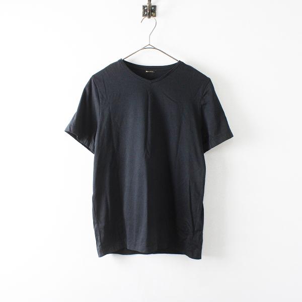 R&D.M.Co- オールドマンズテーラー コットン Vネック Tシャツ F/ブラック【2400012234390】