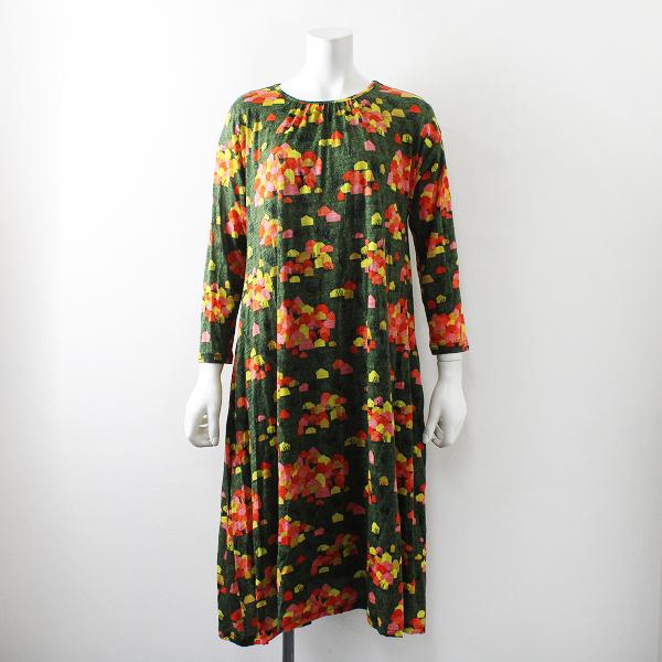 美品 2018AW Sally Scott サリースコット Box House ドレス L/グリーン ウール【2400012234475】