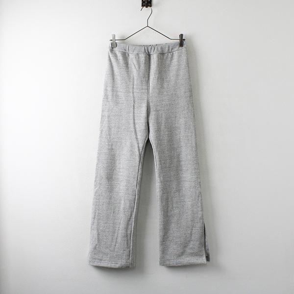 019AW 定価2.4万 L'Appartement Deuxieme Classe アパルトモン Americana アメリカーナ Slit Sweat パンツ M/グレー【2400012234840】-.
