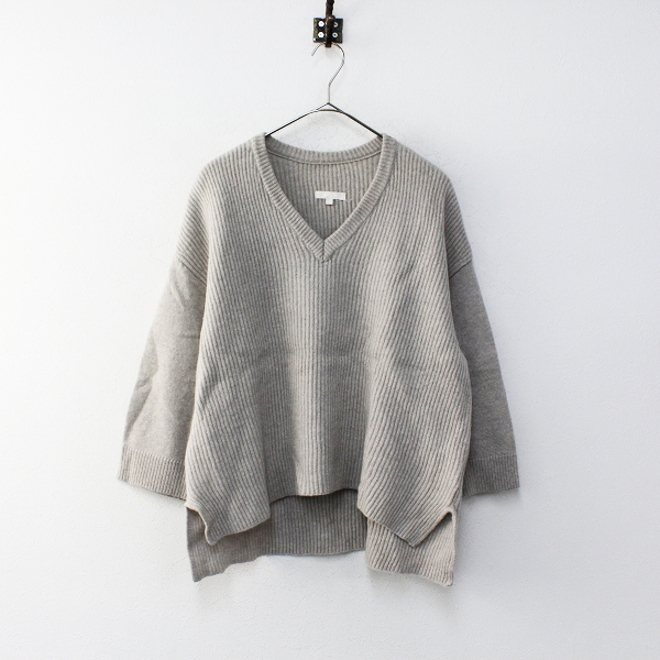 2018SS L'Appartement Deuxieme Classe アパルトモン Garther Stich KNIT ニット /グレー トップス【2400012234857】