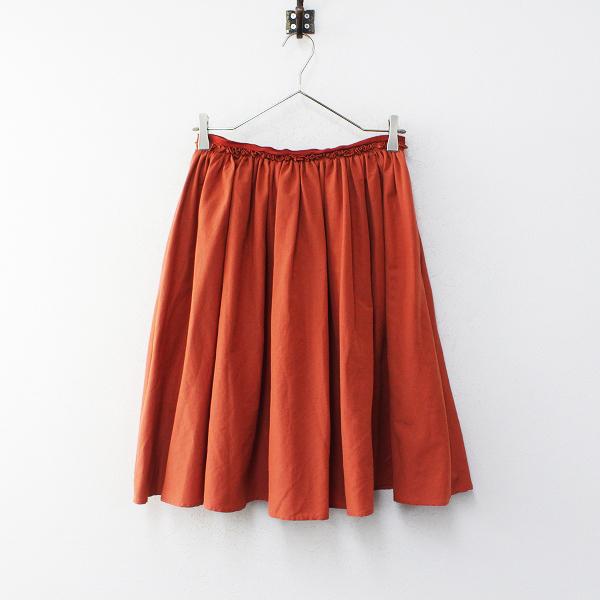 Lois CRAYON ロイスクレヨン Pensee パンセ ウエストフリル ギャザー フレア スカート M/オレンジ ボトムス【2400012235243】