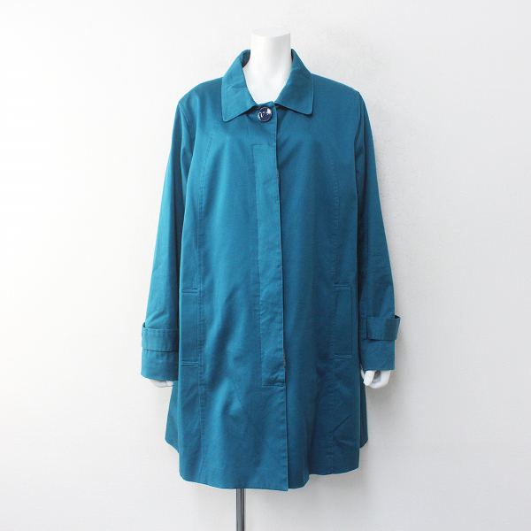 大きいサイズ sab street サブストリート コットン ステンカラー コート 19/ブルー系 アウター【2400012235281】