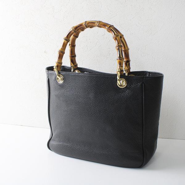 L'Appartement Deuxieme Classe アパルトモン MAURIZIO TAIUTI Bamboo Handle Bag バッグ/ブラック【2400012235755】