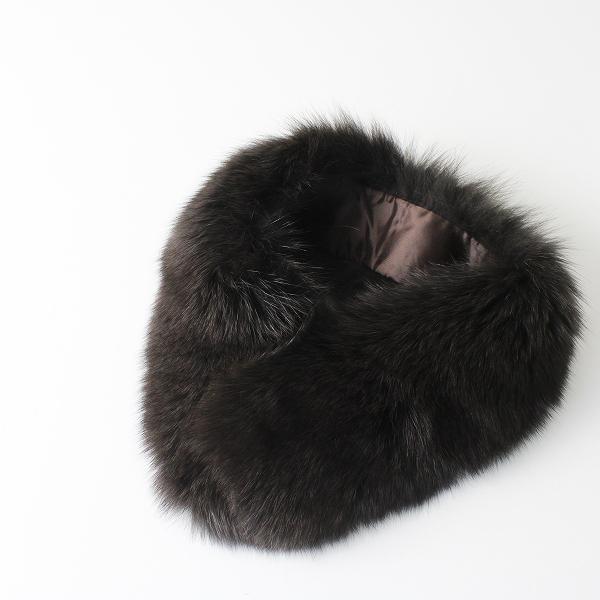 極美品 上質 柔らか毛並み SAGA FURS サガファーズ ティペット クリップ式/毛皮 襟巻き【2400012236073】