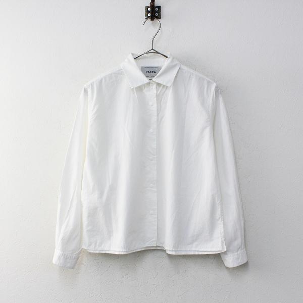 YAECA ヤエカ コンフォートシャツ スクエア スナップボタン S/ホワイト ブラウス【2400012236271】