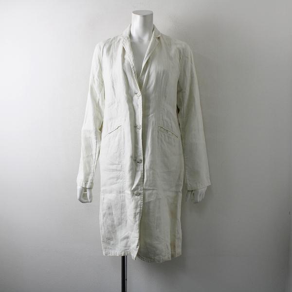 evam eva エヴァムエヴァ リネン ロングコート 2/オフホワイト アウター 羽織り【2400012238510】