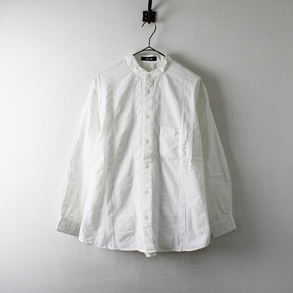 メンズ 2018AW Ne-net ネネット コットンバンドカラー長袖シャツ 2/ホワイト トップス カラーレス【2400012239388】