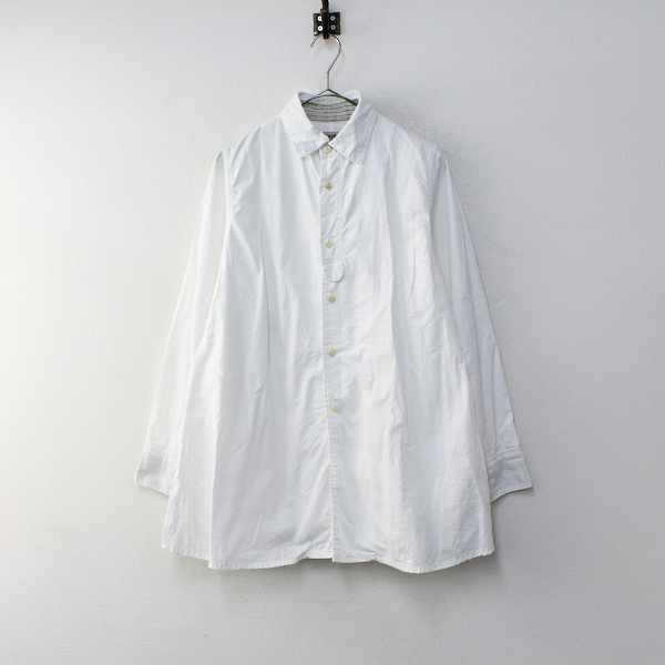 KAPITAL キャピタル コットン ロングスリーブ ロングシャツ 1/ホワイト チュニック ワンピース 長袖 ジャケット 羽織り【2400012239838】