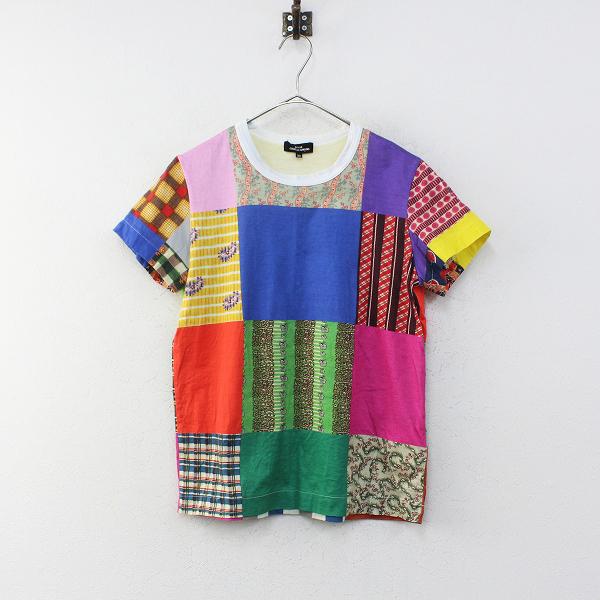 tricot COMME des GARCONS トリココムデギャルソン AD2019 パッチワークプリント半袖TシャツM/カットソー【2400012244283】