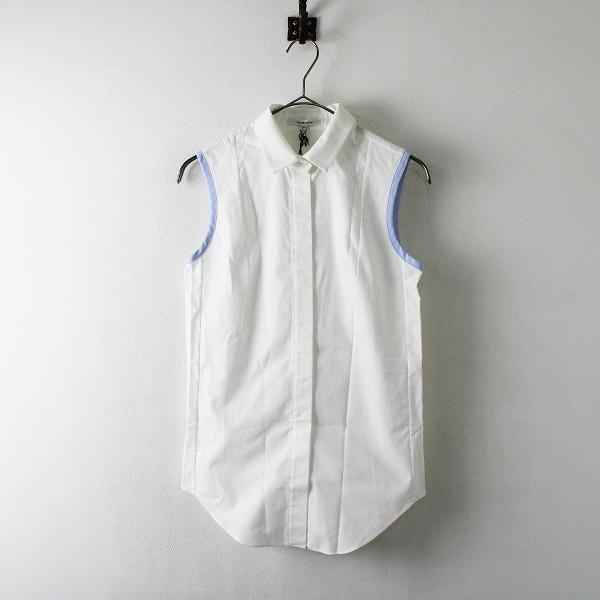 定価3万 国内正規品 タグ付 CARVEN カルヴェン オックスフォード ノースリーブシャツ 36/ホワイト 【2400012250864】