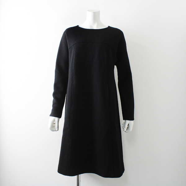 LISETTE リゼッタ LA PETITE ROBE NOIRE ウールボックスプルオーバーロングワンピース/ブラック ドレス【2400012251786】