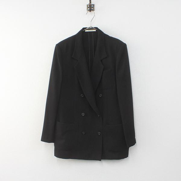 INGEBORG インゲボルグ ダブルボタン ポリエステル ジャケット F/ブラック【2400012259874】