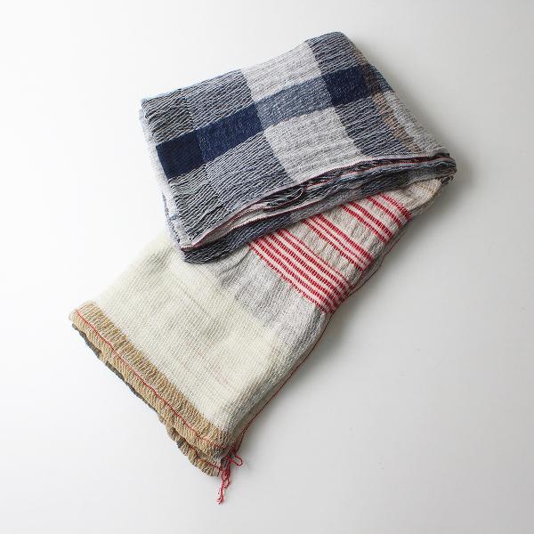 tamaki niime タマキニイメ 玉木新雌 オンリーワン ウールコットン roots shawl BIG ルーツ ショール ビッグ/ネイビー系【2400012262607】