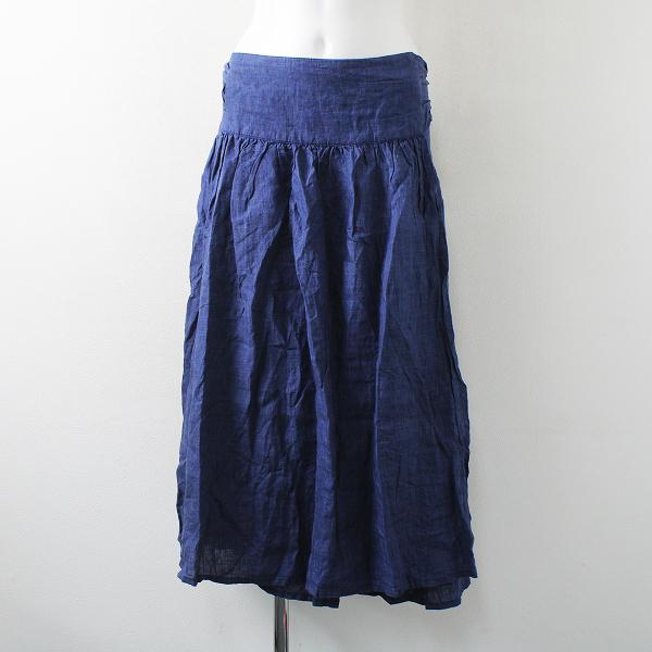 nest Robe ネストローブ リネン ギャザー ラップスカート/ブルー ボトムス F/グレー トップス【2400012267008】