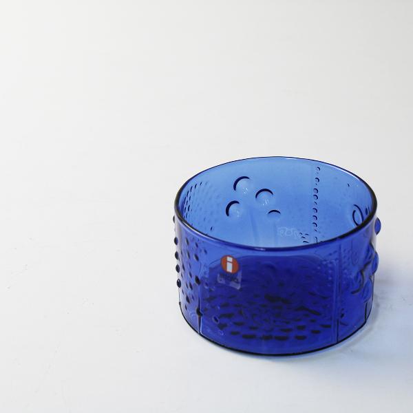 極美品 iittala イッタラ Flora フローラ ボウル 80mm /アクア ブルー 北欧 食器 ガラス陶器 丸底【2400012267268】