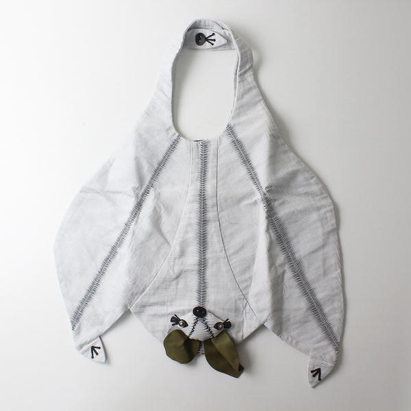 美品 2019SS mina perhonen ミナペルホネン koomori bag -canon- コウモリバッグ/ライトグレー【2400012269507】