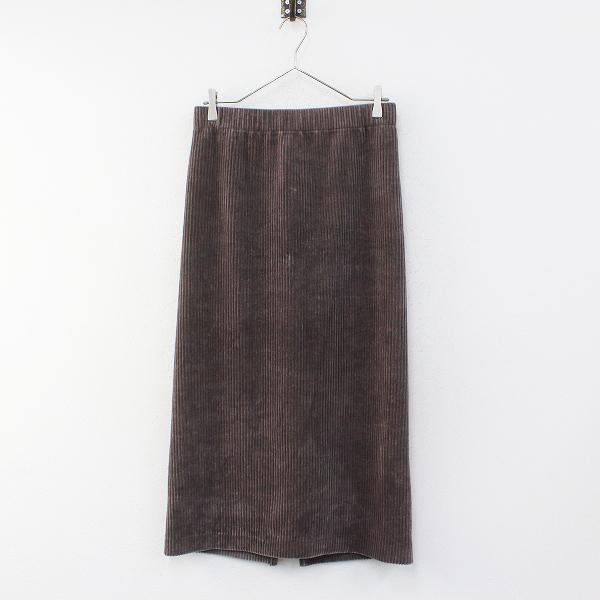 未使用 定価1.3万 2020AW IENA イエナ コーデュロイジャージスカート 40/グレー【2400012270381】-.