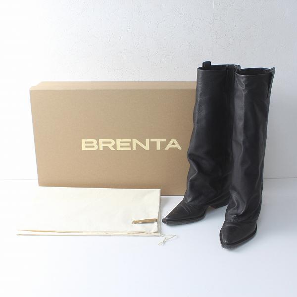 定価7.9万 2020AW Deuxieme Classe ドゥーズィエムクラス 20093521003230 BRENTA ブレンタ ロングカバーブーツ 36/黒【2400012270640】-.
