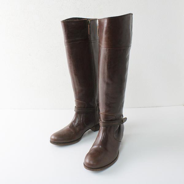 genten ゲンテン レザー ロングブーツ M/ブラウン 靴 シューズ【2400012270787】
