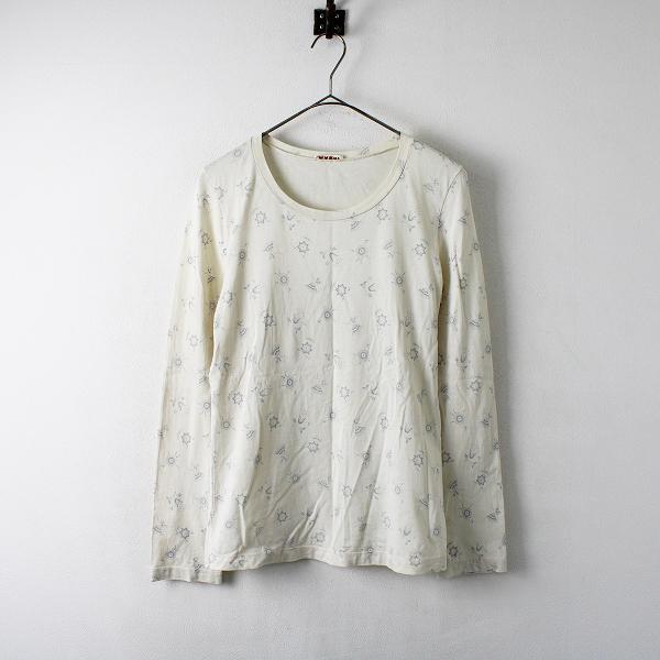 MARNI マルニ コットン フラワープリント Tシャツ 42/オフホワイト トップス【2400012273108】