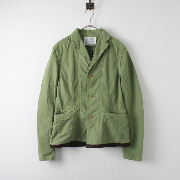kolor カラー コットンシングルジャケット 2/グリーン メンズ 男性用【2400012275973】