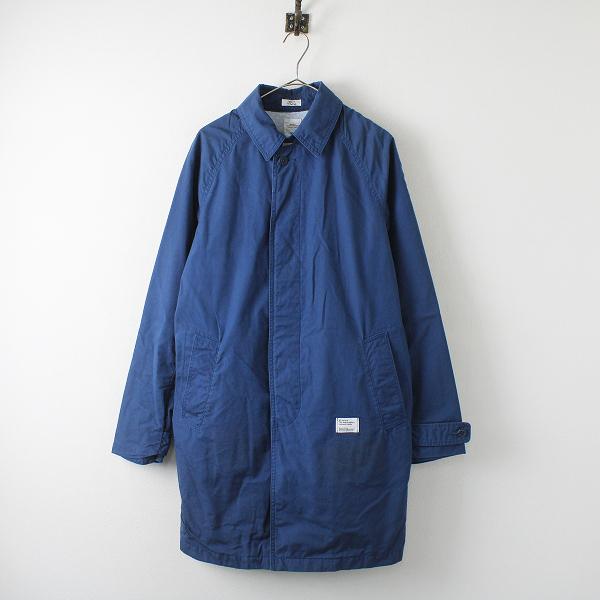 BEDWIN ベドウィン コットンステンカラーコート 3/ブルー 羽織り アウター ロング【2400012275997】