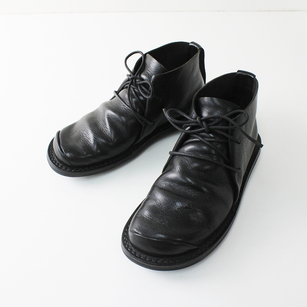 trippen トリッペン SPACE スペース レザー ショートブーツ 37/ブラック 靴【2400012280090】