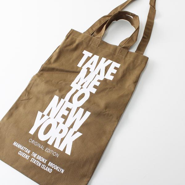 未使用 2019 Deuxieme Classe ドゥーズィエムクラス TAKE ME TO NY BAG F/ブラウン トートバッグ【2400012287464】-.