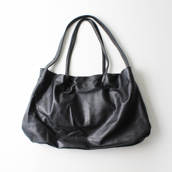 Ampersand アンパサンド 2WAY レザートートバッグ/ブラック 手提げ ショルダー 鞄【2400012292994】